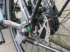 BULLS Lacuba Evo E8 electric bike rear disc brake and kickstand