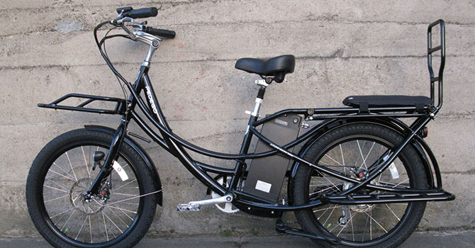 Ashland Electric Bikes Pedego Stretch Electric Cargo Bike