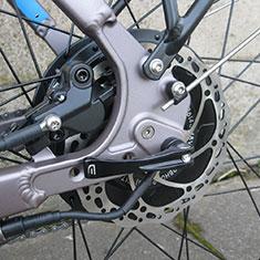 Easy Motion Evo City+ electric bike rear thru axle hub motor