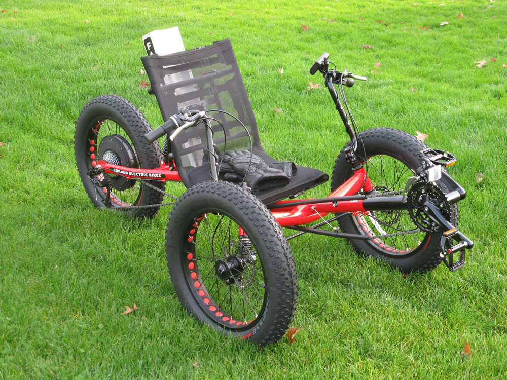 Ashland Electric Bikes Fat Tire Electric Tadpole Trike Sold