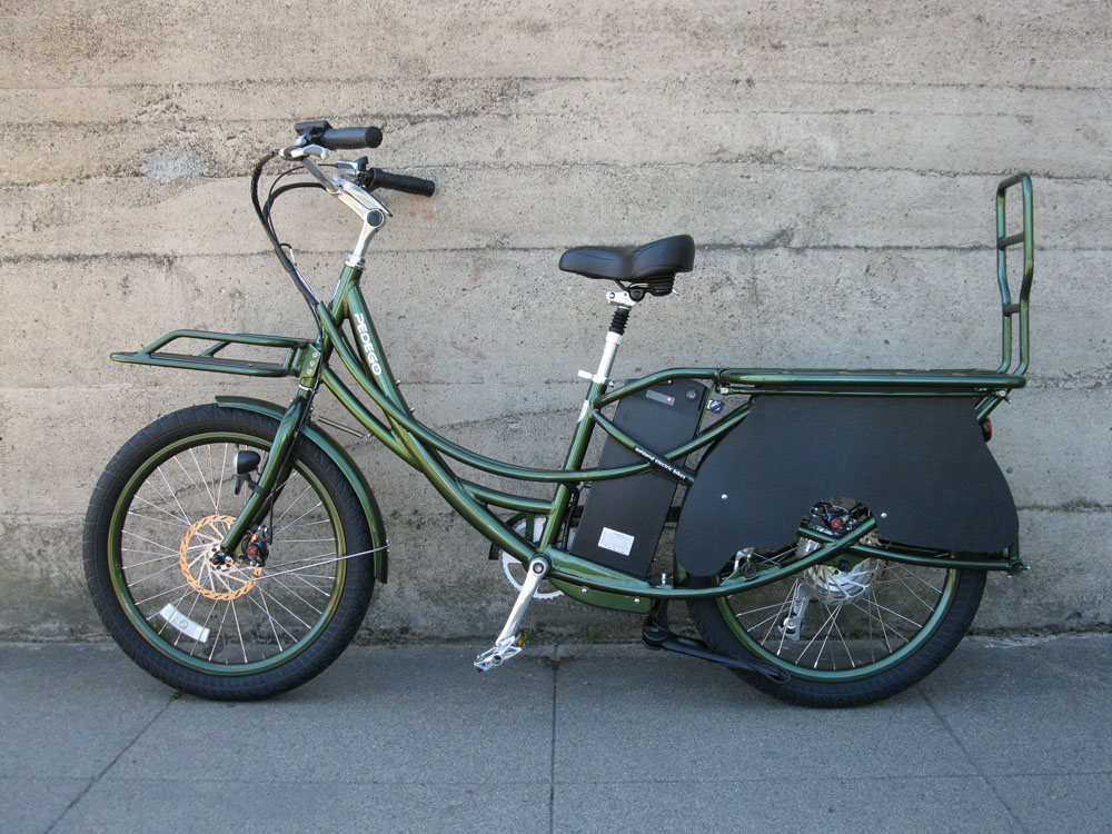 Pedego Stretch Cargo Bike - olive green 2