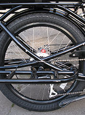 Pedego Stretch Cargo Bike rear structure