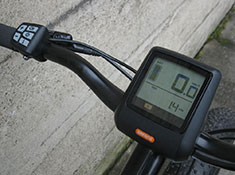 Surface 604 Boar Fat Tire electric bike display and control pad