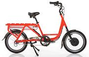 Red ODK Cargo Electric Bike